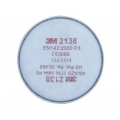 3m 2138 P3 Organik-Ozon Gaz Buhar Yarım / Tam Yüz Maske Toz Filitresi...